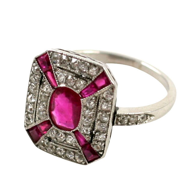Ruby Deco Ring 28 Images Deco Platinum And Ruby Ring