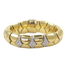 Two Tone Gold Diamond Bracelet