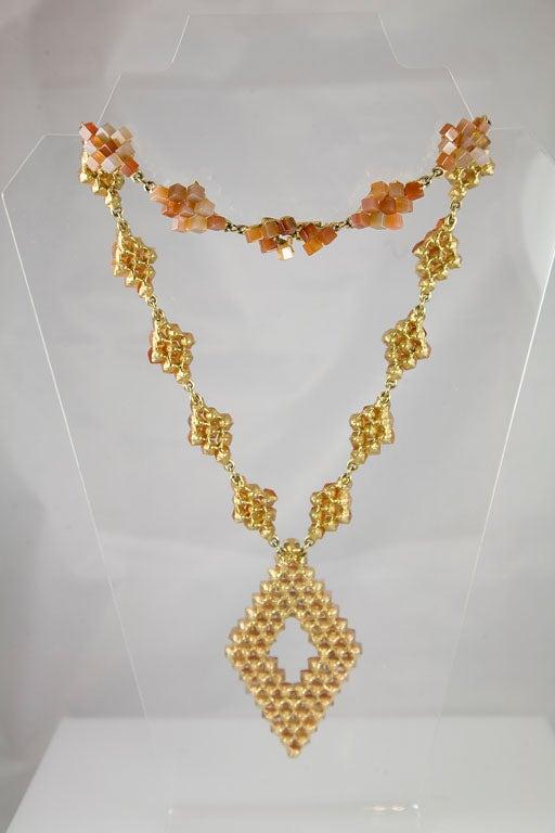 Diamond Pattern Agate Necklace 6