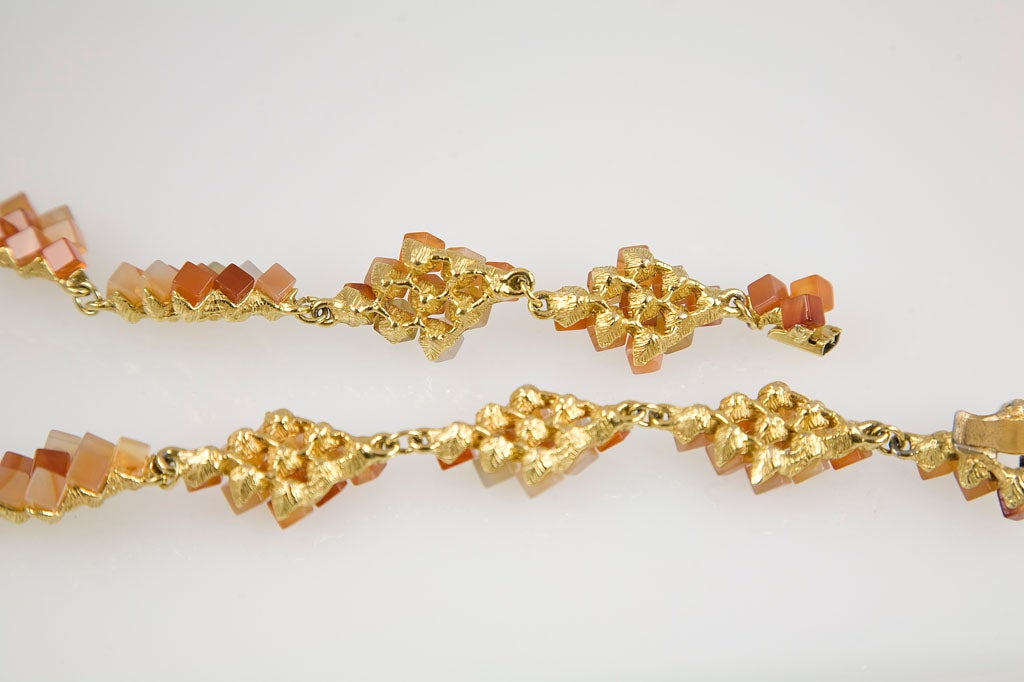 Diamond Pattern Agate Necklace 8