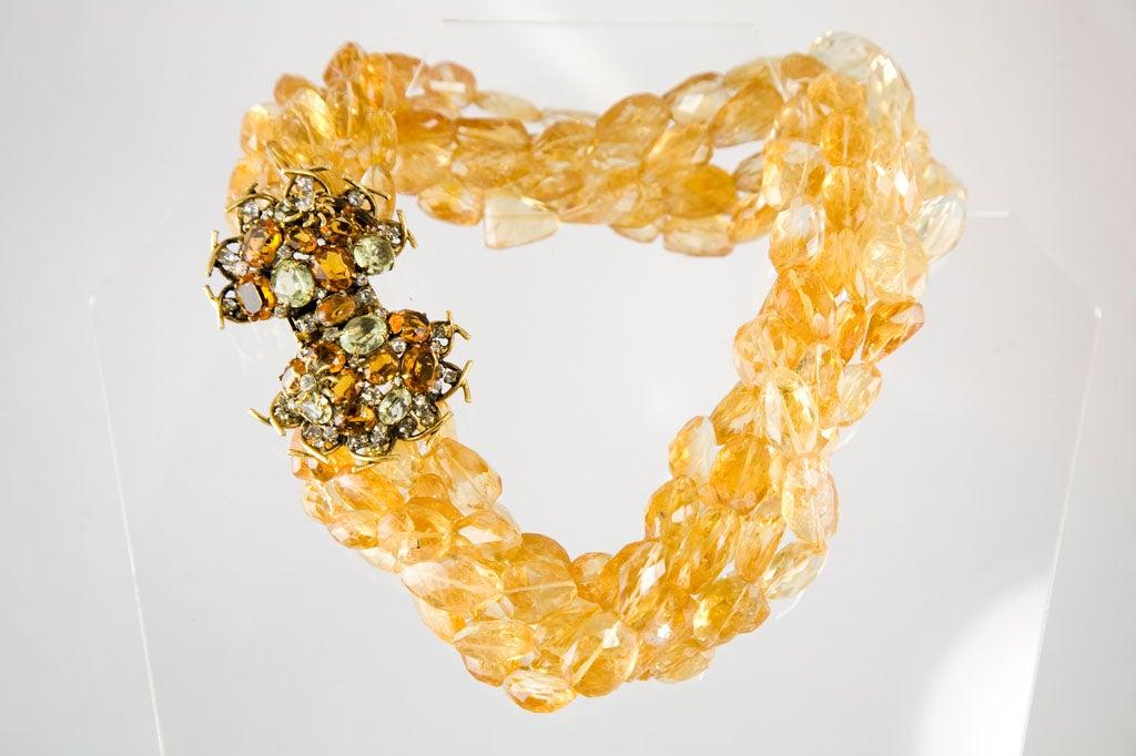 Iradj Moini Multi Strand Citrine Necklace For Sale 4