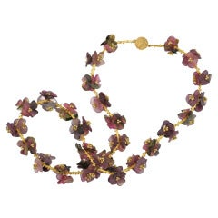 Tourmaline Flower Wreath Necklace