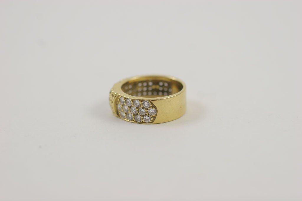 Kt Yellow Gold Buckle Ring Size
