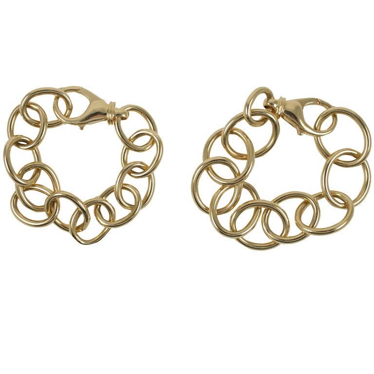 Gold Oval Link Bracelet Small