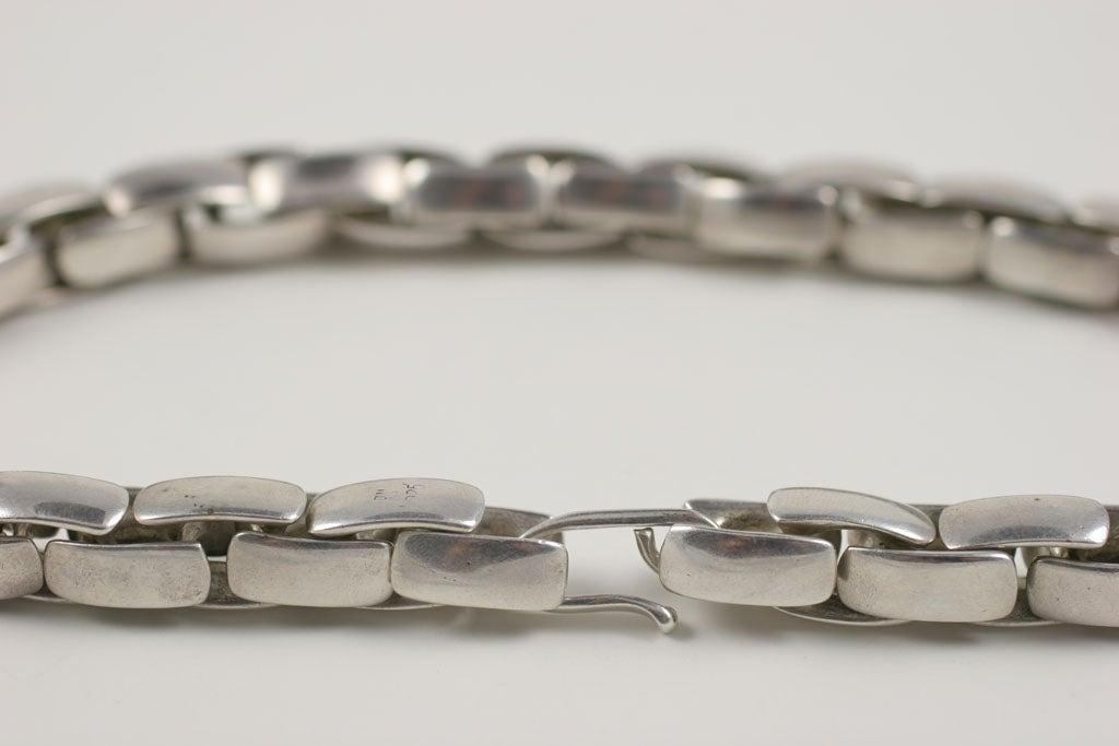Substantial Robert Lee Morris Sterling Silver Collar 7