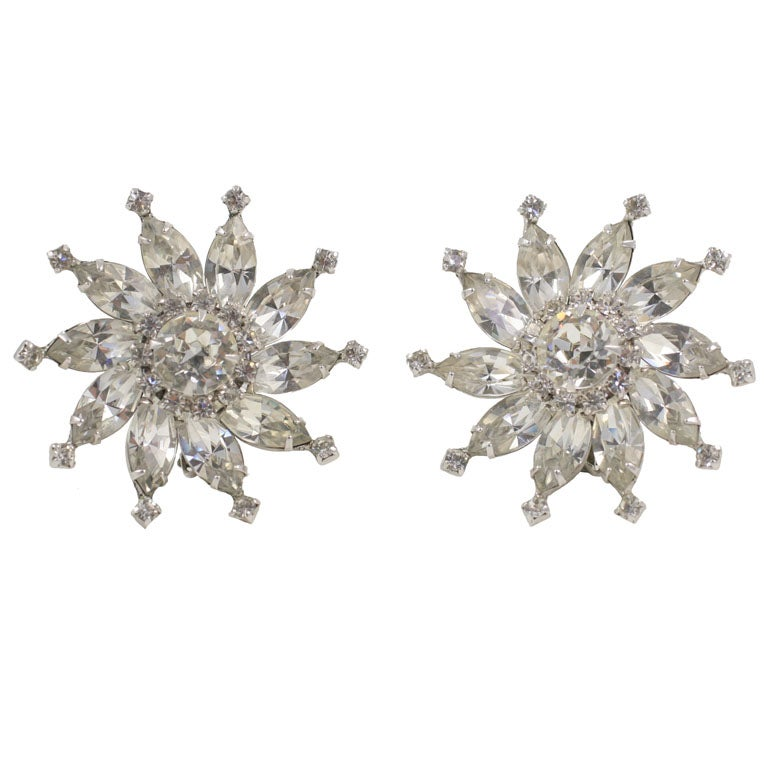 Huge Sparkly Rhinestone Earrings