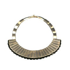1960s Antonio Pineda Onyx Sterling Necklace