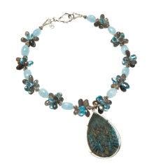 Aquamarine Labradorite Topaz Pendant Necklace
