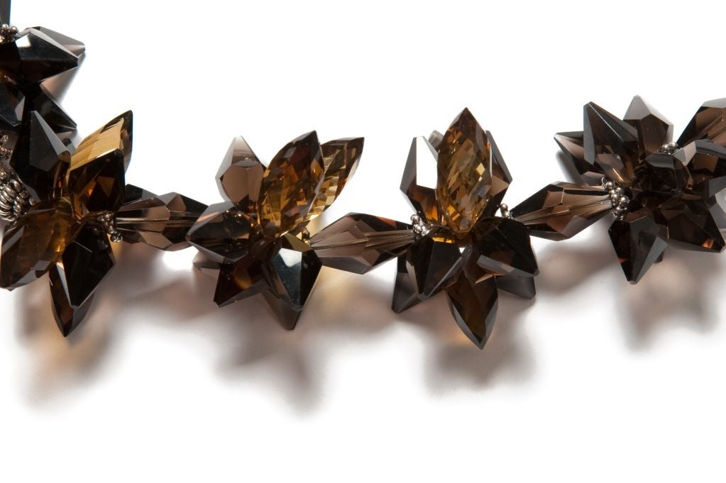 Deborah Liebman Australian Boulder Opal Pendant Whiskey Citrine Silver Necklace In New Condition For Sale In Kansas City, MO