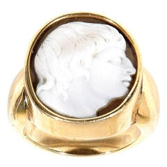 Antique Jewelry Cameo Ring-Alexander The Great