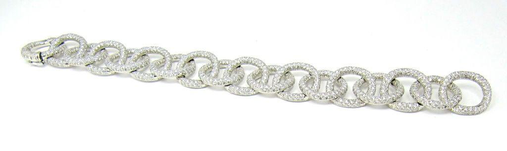 TIFFANY & CO. Etoile Platinum 13cts Pave Diamond Link Bracelet 3