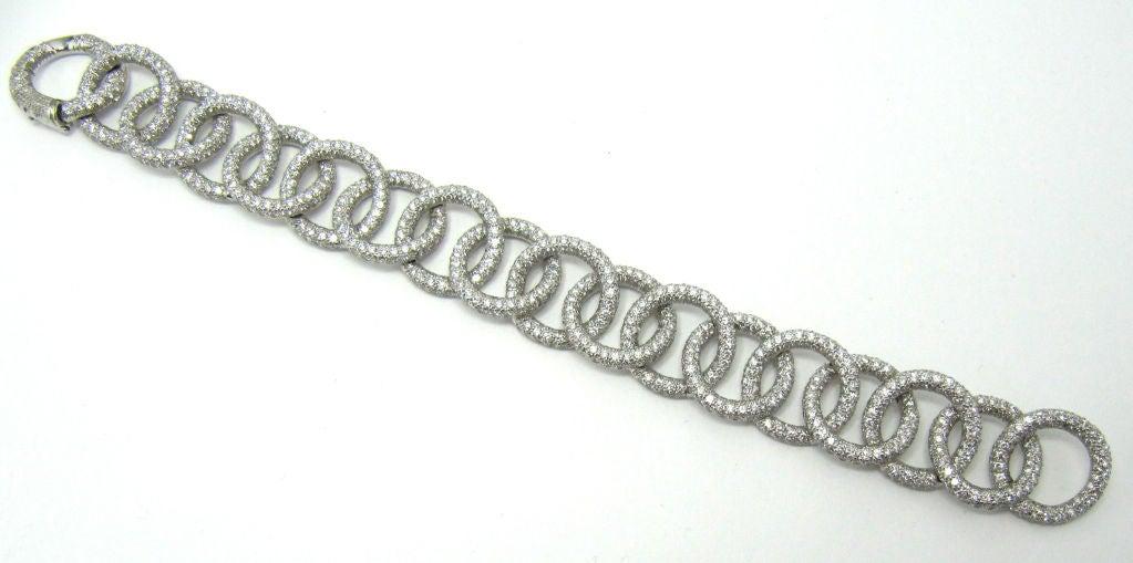 TIFFANY & CO. Etoile Platinum 13cts Pave Diamond Link Bracelet 4