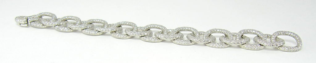 TIFFANY & CO. Etoile Platinum 13cts Pave Diamond Link Bracelet 5