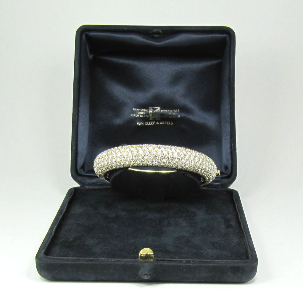 Van Cleef & Arpels Pave Diamond Bangle Bracelet 2
