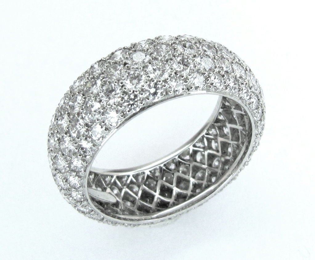 and co etoile 5 row platinum band ring
