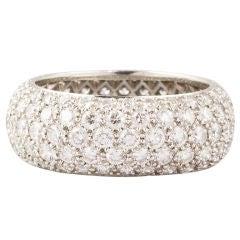 TIFFANY & CO. Etoile 5 Row Diamond Platinum Band Ring Size 6