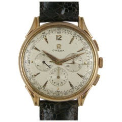 Omega 18K PG 3 Register Oversize Chronograph