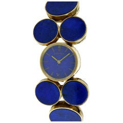 Cartier Gold and Lapis Watch