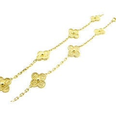 VCA Gold Alhambra Necklace
