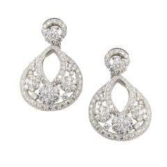 VCA Diamond Snowflake Earrings