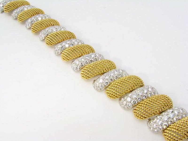 Gold and Diamond Mesh Bracelet 3