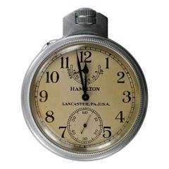 Hamilton Watch Co. Marine Chronometer  Deck Watch Model 22