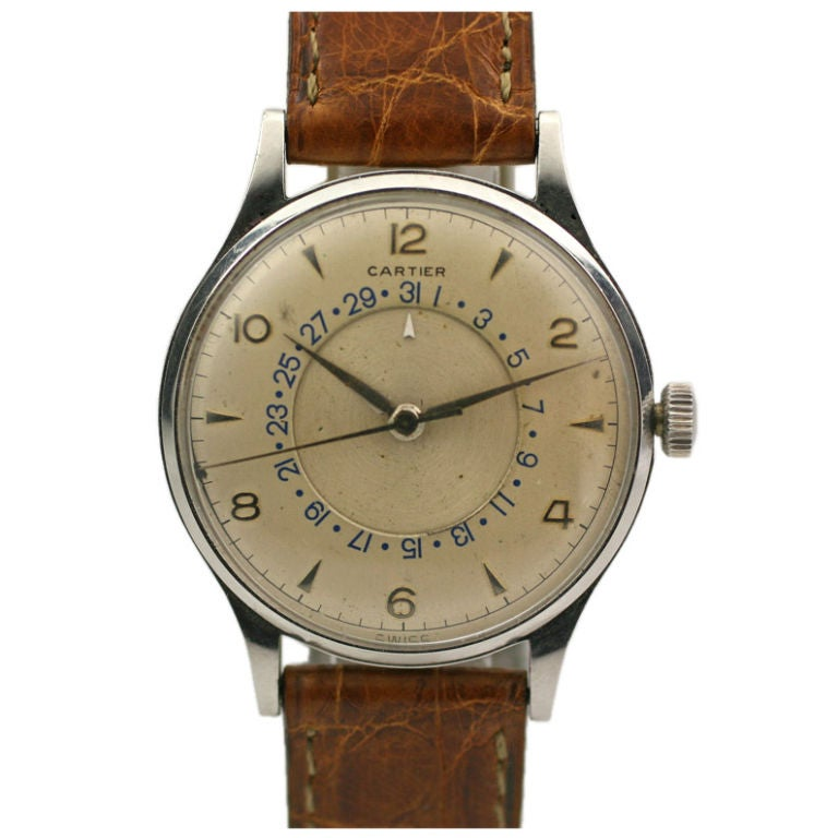 Cartier 1950's Time/Date For Sale
