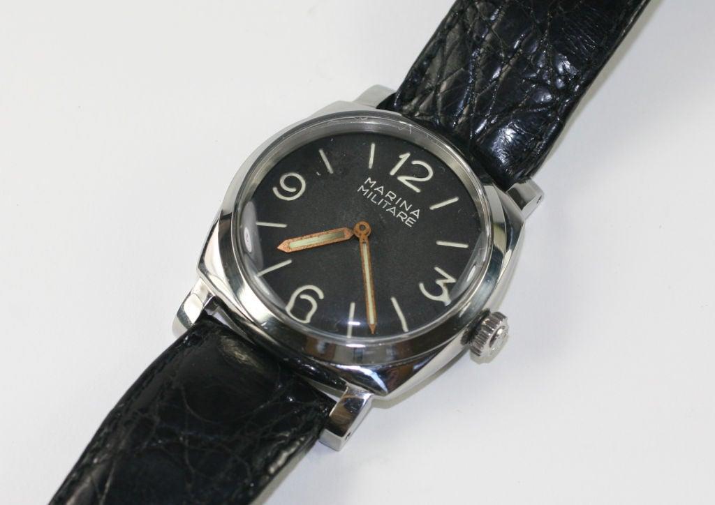 Men's Vintage Panerai Marina Militare made by Rolex circa 1950s For Sale