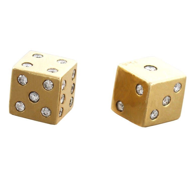 Gold And Diamond Dice At 1stdibs