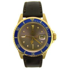 An 18K Yellow Gold 1970's Color-Change Submariner by Rolex