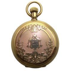 14K Yellow Gold American Waltham Pocket Watch