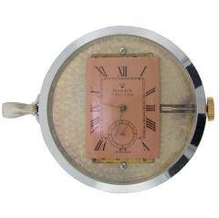 Rolex Pocket Watch & Display c/1930 Skeleton Back
