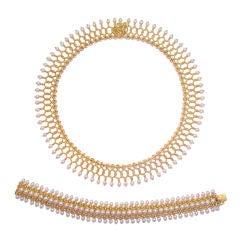 TIffany & Co. 18K Yellow Gold & Natural Pearl