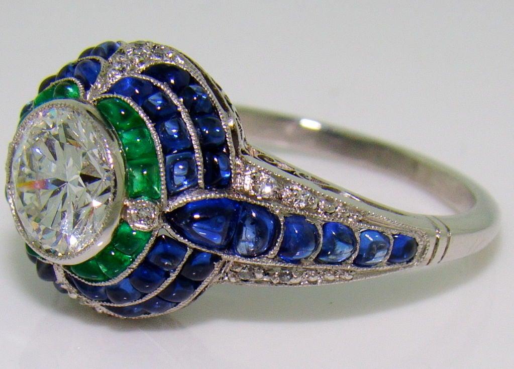 handmade platinum diamond sugarloaf emerald and sapphire. Black Bedroom Furniture Sets. Home Design Ideas