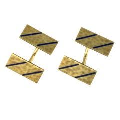 Art Deco Enamel Cufflinks
