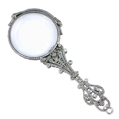 Exceptional Pave Rose Diamond Lorgnette