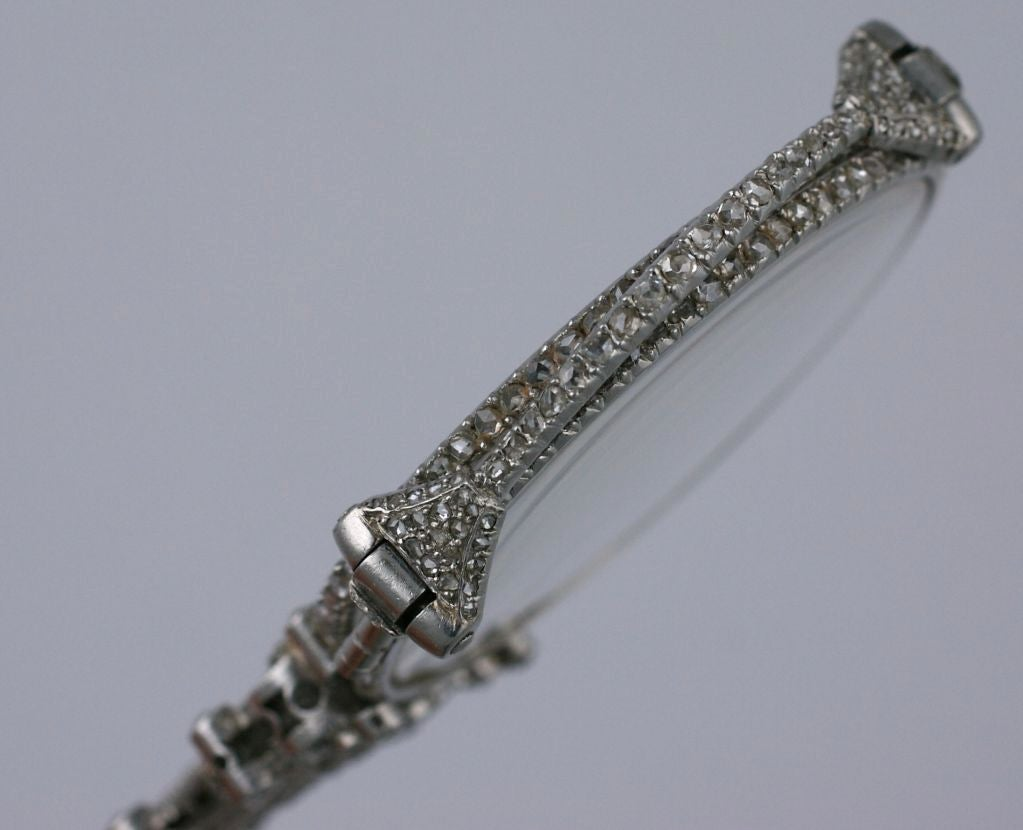 Exceptional Pave Rose Diamond Lorgnette For Sale 1
