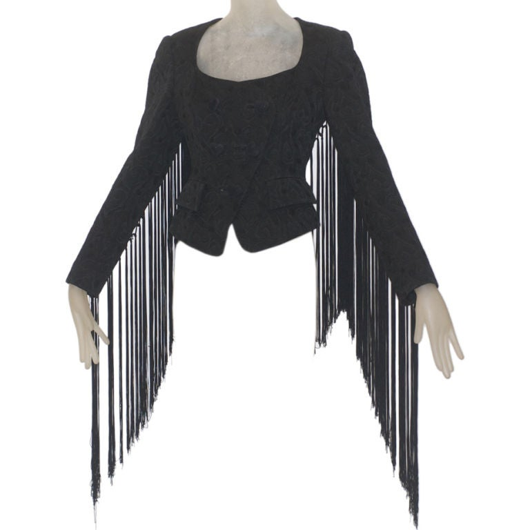 1980s Christian Lacroix Haute Couture Fringe Jacket At 1stdibs