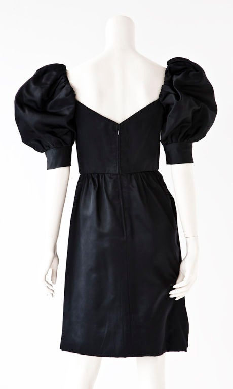 Puff Sleeve Cocktail Dress At 1stdibs