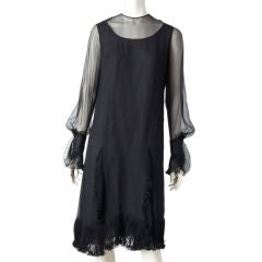 Castillo silk Georgette and plisse cocktail dress