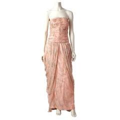 Murray Arbeid silk chiffon evening gown