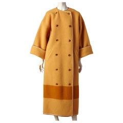 Geoffrey Beene blanket coat