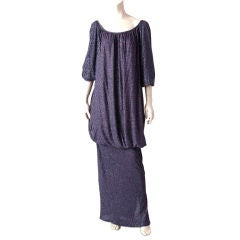 Angelo Tarlazzi Jersey  Blouson Gown