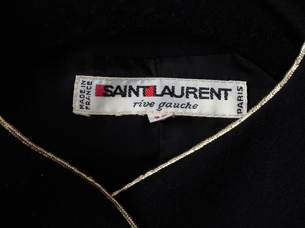 YSL wool croped jacket with gold trim 5