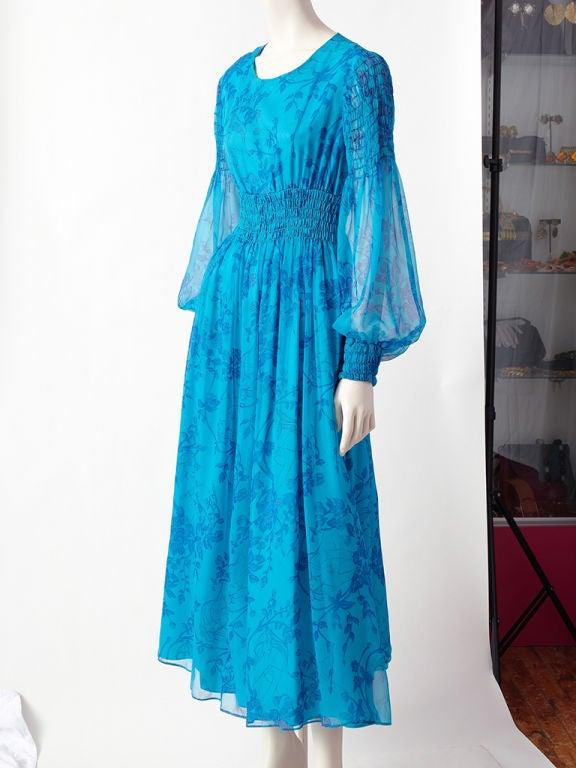 Miss Magnin Floral Print Chiffon Dress 2