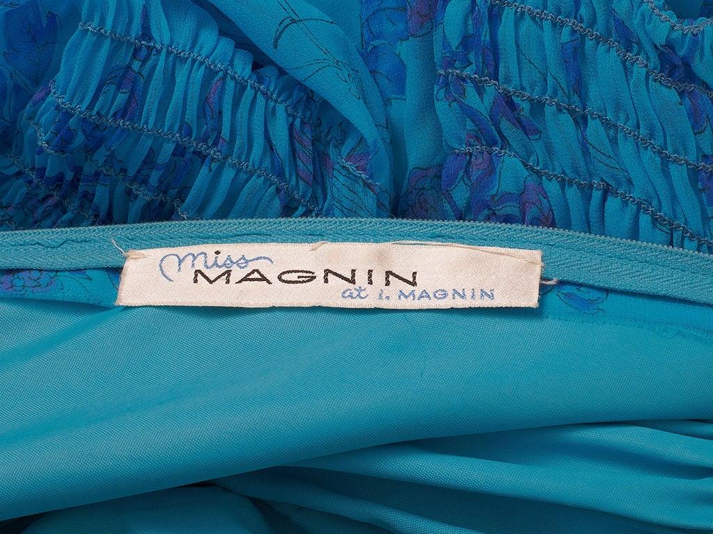 Miss Magnin Floral Print Chiffon Dress 4