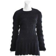 Alaia mini sweater dress