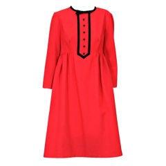 Geoffrey Beene Red Wool Baby Doll