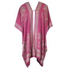Rare Mariano Fortuny Silk Crepe Coat
