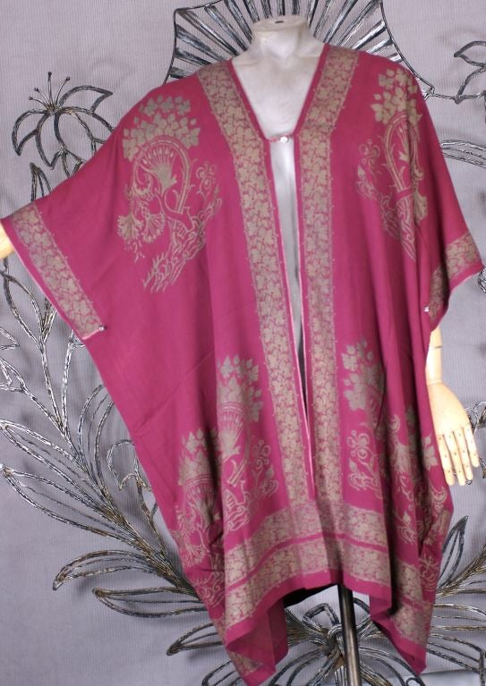 Rare Mariano Fortuny Berry Silk Crepe Coat 2